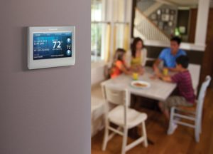honeywell smart thermostat touchscreeen